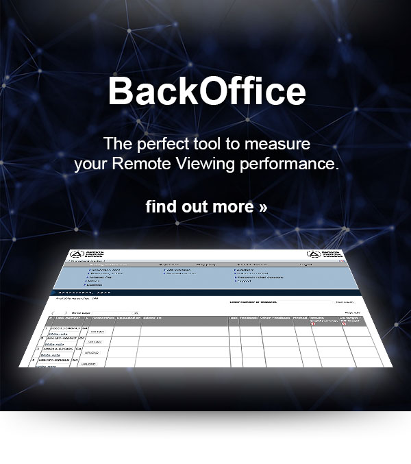Remote Viewing is measurable. With our Web-BackOffice you are now able to measure your performance as a Remote Viewer.